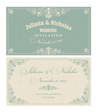 Invitation card free vector download 12902 free vector for decorative pattern wedding invitation cards vector set stopboris Image collections