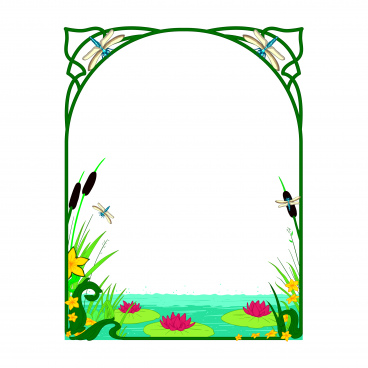 decorative pond frame