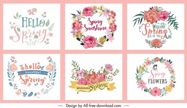 decorative spring background templates elegant colorful botanical decor