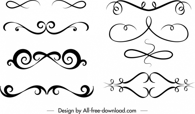 Decorative swirl fonts free vector download (31,159 Free