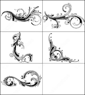 decorative swirls brush