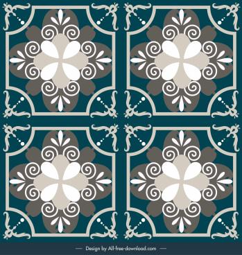 decorative tile background elegant european symmetric shape