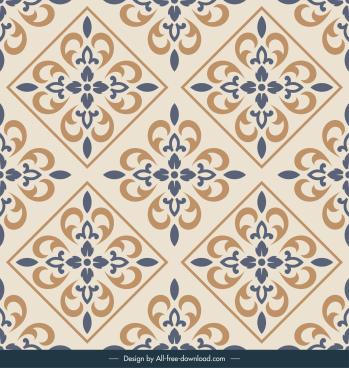 decorative tile background vintage repeating symmetrical design