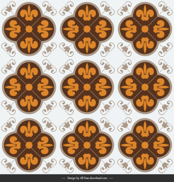decorative tile pattern template flat symmetric repeating design