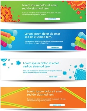 decorative vector web content headlines