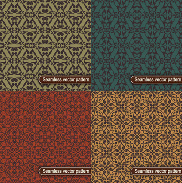 decorative vintage floral seamless vector pattern