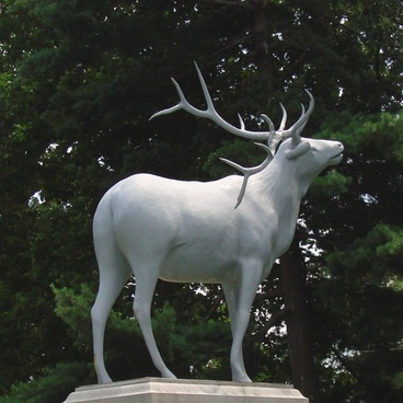 deer monument in the cemetery