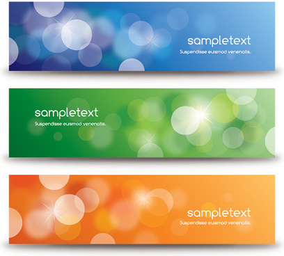 defocused banners vector graphic