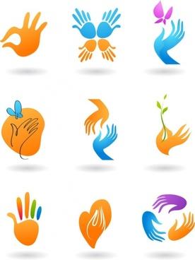 deformed hand icon vector