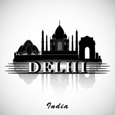 delhi city background vector