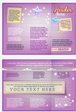 delicate brochure design template vector