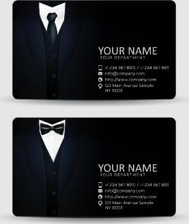 delicate business cards design elements