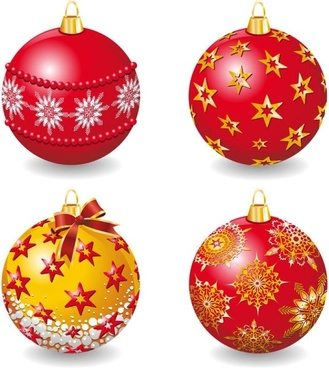 delicate christmas ball vector