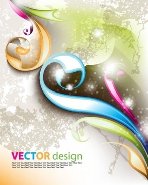 delicate fashion background art vector