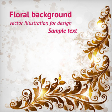 delicate floral pattern background element vector set