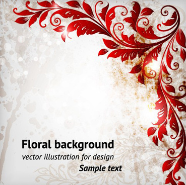 delicate floral pattern background element vector set