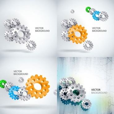 technology backgrounds modern 3d gears decor