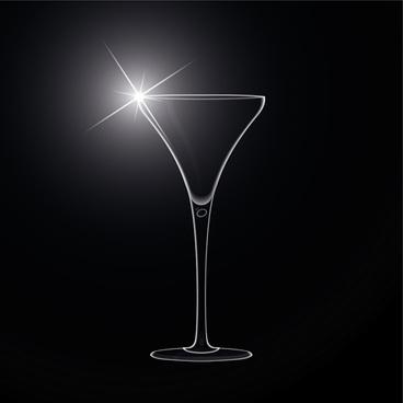 delicate martini glass vector