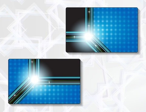 delicate modern business cards vector graphics