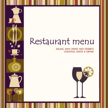 delicate restaurant menu cover design vector