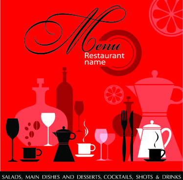 delicate restaurant menu cover design vector