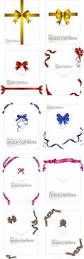 decorative bow ribbon templates colored classic decor