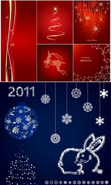 delicate snowflake christmas background vector