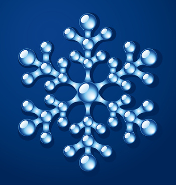 delicate snowflake christmas illustration vector