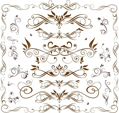 frame design elements classical symmetrical curves design