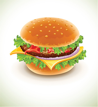 delicious fast food vector set