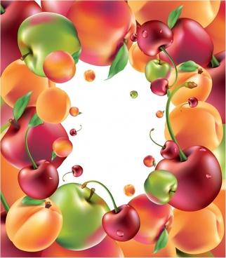 delicious fruit apples vector