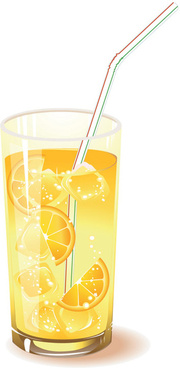 delicious lemon juice vector
