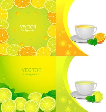 fruit juice background bright colorful decor slices sketch