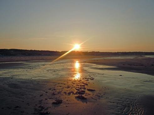 denmark sunset baltic sea