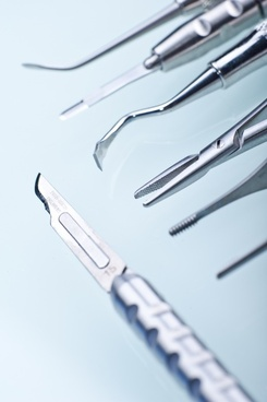 dentist dental tools scalpel