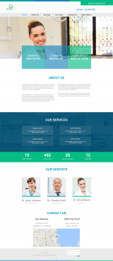 dentist web template