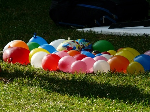 depth charges balloons colorful