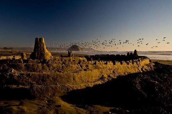 desert evening landscape light morning mountain