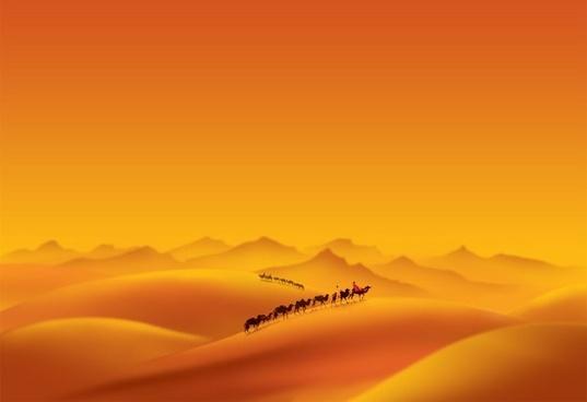 desert psd layered