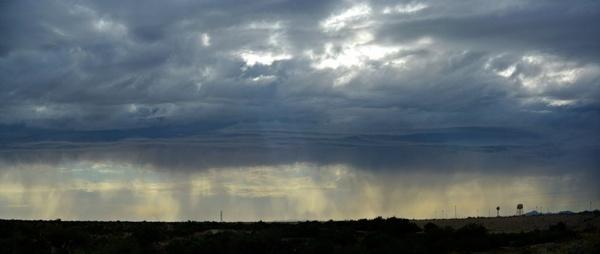 desert rain panorama