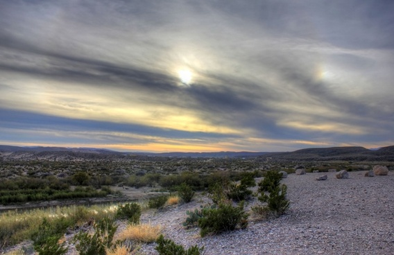desert sunset at big bend national park texas