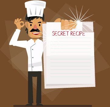 design chef vector background set