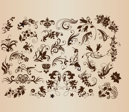 design floral set vector illustration