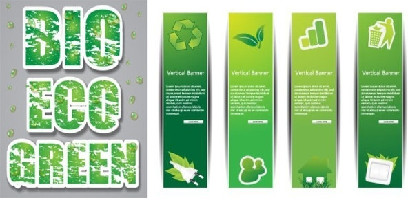 design of lowcarbon green theme vector 1
