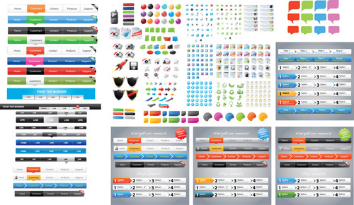 designers toolkit web vector set