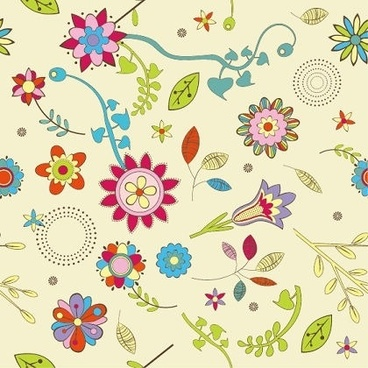 floral pattern background retro seamless design