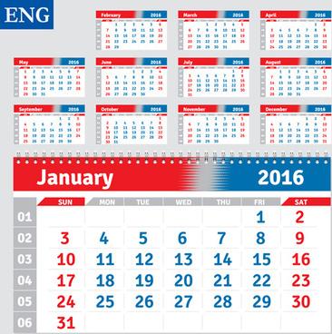 desk calendar template16 vector
