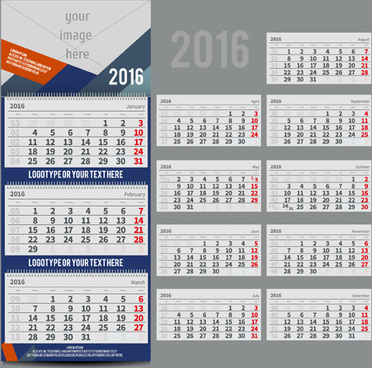 desk calendar template16 vector