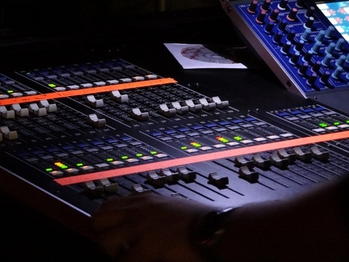 desk mixer music stuido