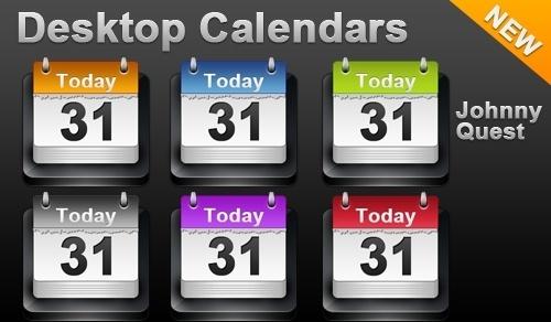 Desktop Calendar icon icons pack